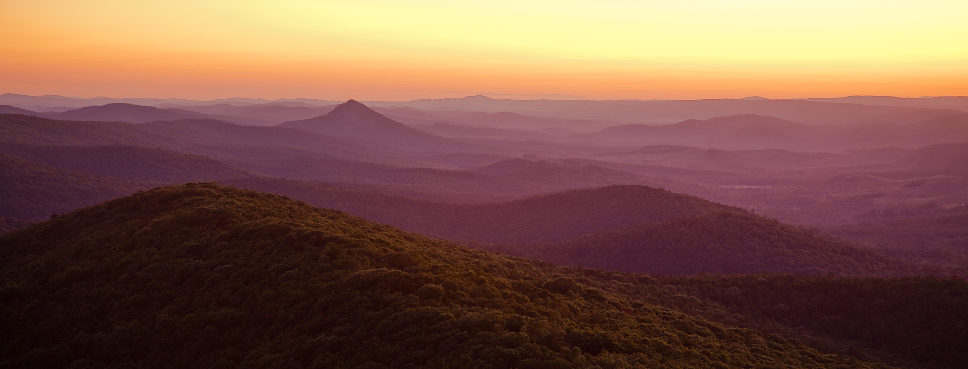 Looking west from Flatside Pinnacle, Ouachita National Forest