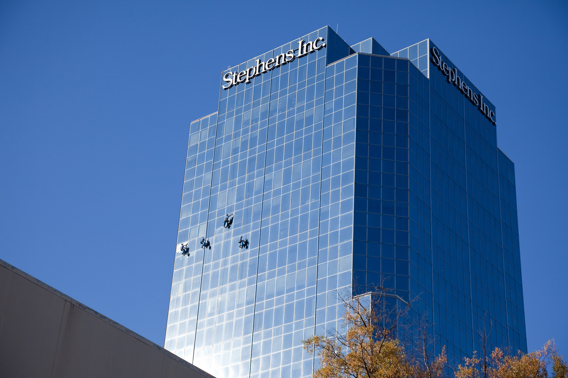 Fall Cleaning at the Stephens Building, Little Rock, Arkansas